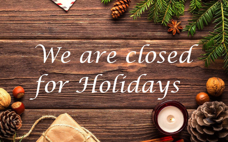 Christmas Holidays Closure
